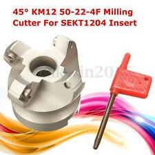 KM12 50-22-4F Indexable Face Milling Cutter 4 Flutes Lathe For SEKT1204 Insert