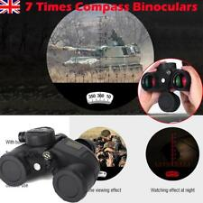 7x50 Military Waterproof Night Vision Binoculars Compass Range Finder Outdoor