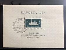 Danzig Souvenir Sheet 1937 - Perfect MNH OG Pristine CV 180 Euro
