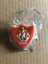 NEW SEALED Genuine BBC Blue Peter badge - Rare Orange version