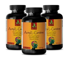 Acetyl L-Carnitine Transports Fatty Acids and Boosts Cellular Energy (3 bottles)