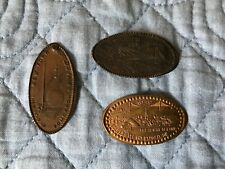 Lot of 3 elongated coins from worlds fairs