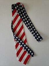 Old Glory American Flag necktie Long Patriotic Fourth of July Independence Day