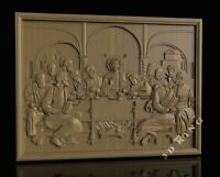 STL 3D Models LORD'S SUPPER 8 for CNC 3D Printer Engraver Carving Aspire Artcam