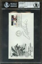 1980 Eric Heiden Autographed 1st Day Cover Beckett Authentic