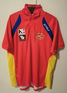 GOLD COAST SUNS Official AFL Footy Football Polo Jersey T-Shirt Mens Size L