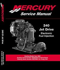 Mercury Marine 240 250 HP M2 Jet Drive Service Manual 3.0 Liter V6 - #1 on Ebay!