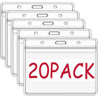 20 Pack Clear Vaccination Card Protector 4x3 Vaccine Record Holder Badge Sleeve