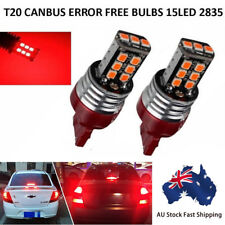 2 X T20 7443 15 RED LED DUAL FILAMENT CAR UTE BRAKE STOP TAIL LIGHT BULB 12V