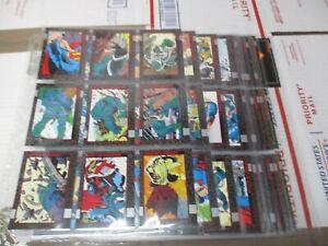 1992 DC DOOMSDAY DEATH OF SUPERMAN COMPLETE SET 90 BASE 9 PUZZLE 1 DOOMSDAY 1 CL