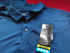 Pga Tour Motionflux 360 Ls Golf Polo - M - Navy Heather - Nwt - Top Quality $60