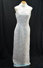 Michaelangelo White Ball gown Wedding Dress halter bead Davids Bridal SZ 10 VTG