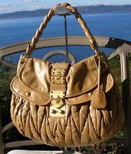 Authentic Miu Miu Prada Matelasse Lux Coffer  Glazed Nappa Leather