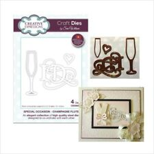 Wedding metal die set Champagne Flute Creative Expressions cutting Dies  CED9404