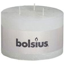 Bolsius Rustic Pillar Candle 3 Wick 90 X 140mm White 57 Hour Burn