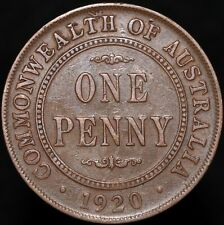 More details for 1920 | australia george v one penny 'without dots' | bronze | coins | km coins