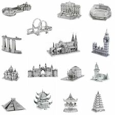 3D Metal Puzzles Famous Buildings Eiffel Tower Big Ben Roller Coaster Etc Xmas