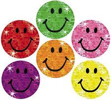 160 Funkeln Smiles Belohnungs Sticker groß 18mm Motivieren in der schule/