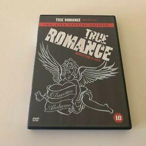 True Romance (DVD, 1993) Christian Slater, Great Condition Region 2 2 Disc Rare