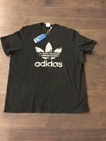 Adidas Camo Camouflage Trefoil T Shirt Men's Size XL New Black