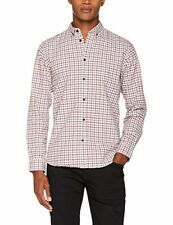 Selected Men's red/blue gingham LS Casual Shirt uk sz small new