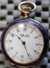 Antique 14k Tiffany ladies pocket watch with enamel back illustration dated 1895