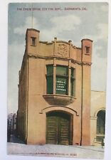 CA Postcard Sacramento Vintage Fire Department Dept Station Fire Chief's Office
