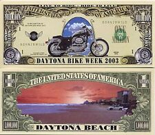 Daytona Beach Bike Week Million Dollar Bill Collectible Funny Money Novelty Note