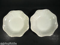 "2 Art Pottery Accent White Bowls  8 1/2"" - New"