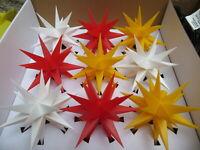 9 Sterne LED Sternenkette außen 3-farbig Lichterkette Adventsstern Außenstern