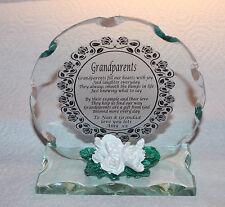 Personnalisé Grand parents Cadeau Magnifique verre cristal poème Creative Plaque #4