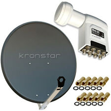 Digitale SAT-Anlage 8 Teilnehmer HD ALU 90cm BEST LNB 0,1dB Full HD , 4K SKY 3D