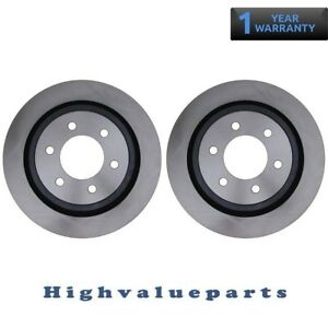 New Pair BR575110 Rear Disc Brake Rotors for 2012-14 Ford F-150 4WD RWD