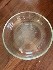 "Crystal 8"" Bowl 1/4"" thick glass E Pluribus Unum"