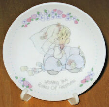 "Enesco Precious Moments ""Wishing You Roads of Happiness"" Collectible Plate 1989"