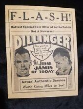 Dillinger original1934 handbill