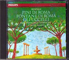 RESPIGHI Fontane Pini di Roma Gli Uccelli The Birds EDO DE WAART CD PHILIPS 1983