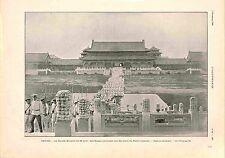 Parade Militaire Armée Impériale Russie Palais d'été Pékin Chine GRAVURE 1900