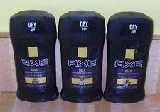 3 bottles mens Axe Gold Anti persipirant and deodorant