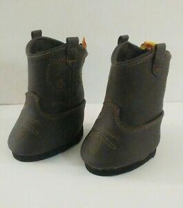 Build A Bear Shoes~Cowboy Boots~Brown Faux Suede