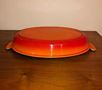 Le Creuset Enamel Cast Iron Au Gratin Pan 32 France Oval Flame Orange Casserole