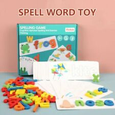 Early Education English Spelling Toy Wooden Cardboard Alphabet Game Educational