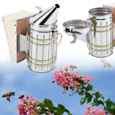 Bee Hive Smoker With Heat Shield Calming Beekeeping Equipment Honey Keeper