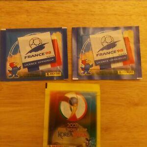 PANINI FRANCE  98  sealed x 2  unopened packets stickers + KOREA 2002 Sealed