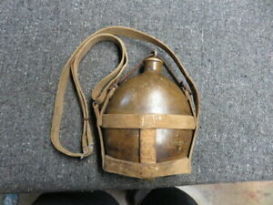 WWII JAPANESE ARMY TYPE 94 CANTEEN W/ CARRIER-MAKER KANJI
