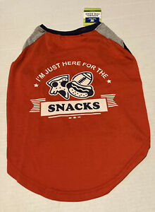 NWT Top Paw I'm just here for the snacks dog tshirt L