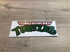 "Teenage Mutant Ninja turtles - Retro Sticker / Decal 8"" x 3"""