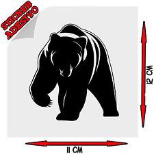 Sticker Adesivo Prespaziato Decal Orso Bear Animale Grotta Auto Scooter Moto