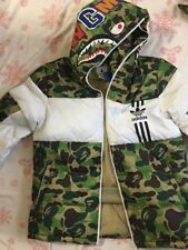 adidas Originals by BAPE ID96 DOWN JACKET SIZE M MEDIUM  CAMO HOODIE AUTHENTIC