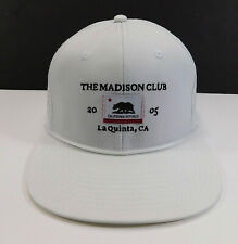 THE MADISON Club La Quinta, CA 2005 Golf Logo Mesh Snapback HAT White Cap NEW